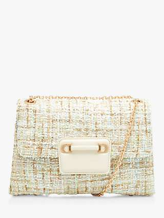 Dune Brilliantly Boucle Textured Clutch Bag, Multi