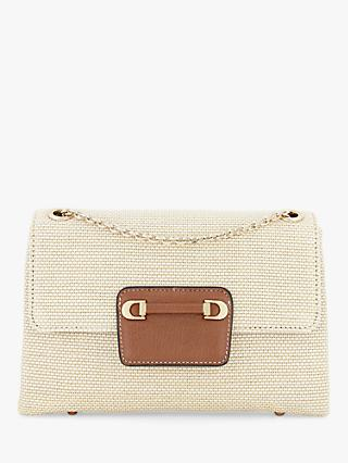 Dune Brilliantly Textured Clutch Bag, Beige