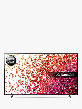 LG 75NANO756PA (2021) LED HDR NanoCell 4K Ultra HD Smart TV, 75 inch with Freeview Play/Freesat HD, Ashed Blue