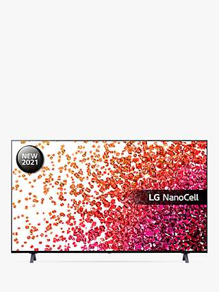 LG 55NANO756PA (2021) LED HDR NanoCell 4K Ultra HD Smart TV, 55 inch with Freeview Play/Freesat HD, Ashed Blue