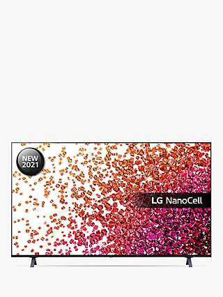 LG 50NANO756PA (2021) LED HDR NanoCell 4K Ultra HD Smart TV, 50 inch with Freeview Play/Freesat HD, Ashed Blue