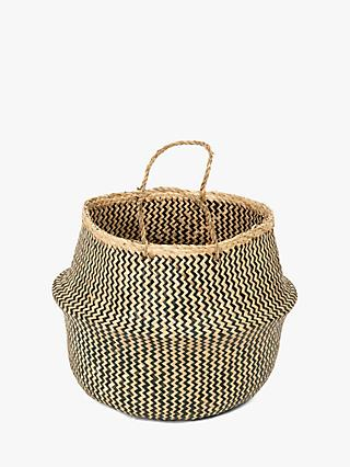 Compactor Seagrass Belly Basket Planter, Large