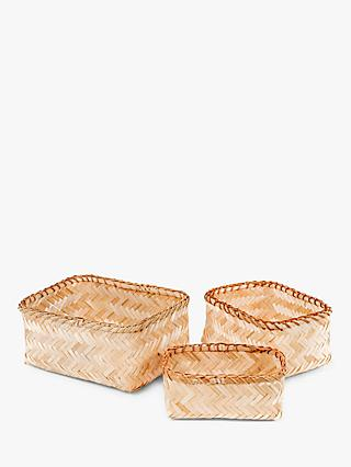 Compactor Bamboo Halong Baskets, Set of 3