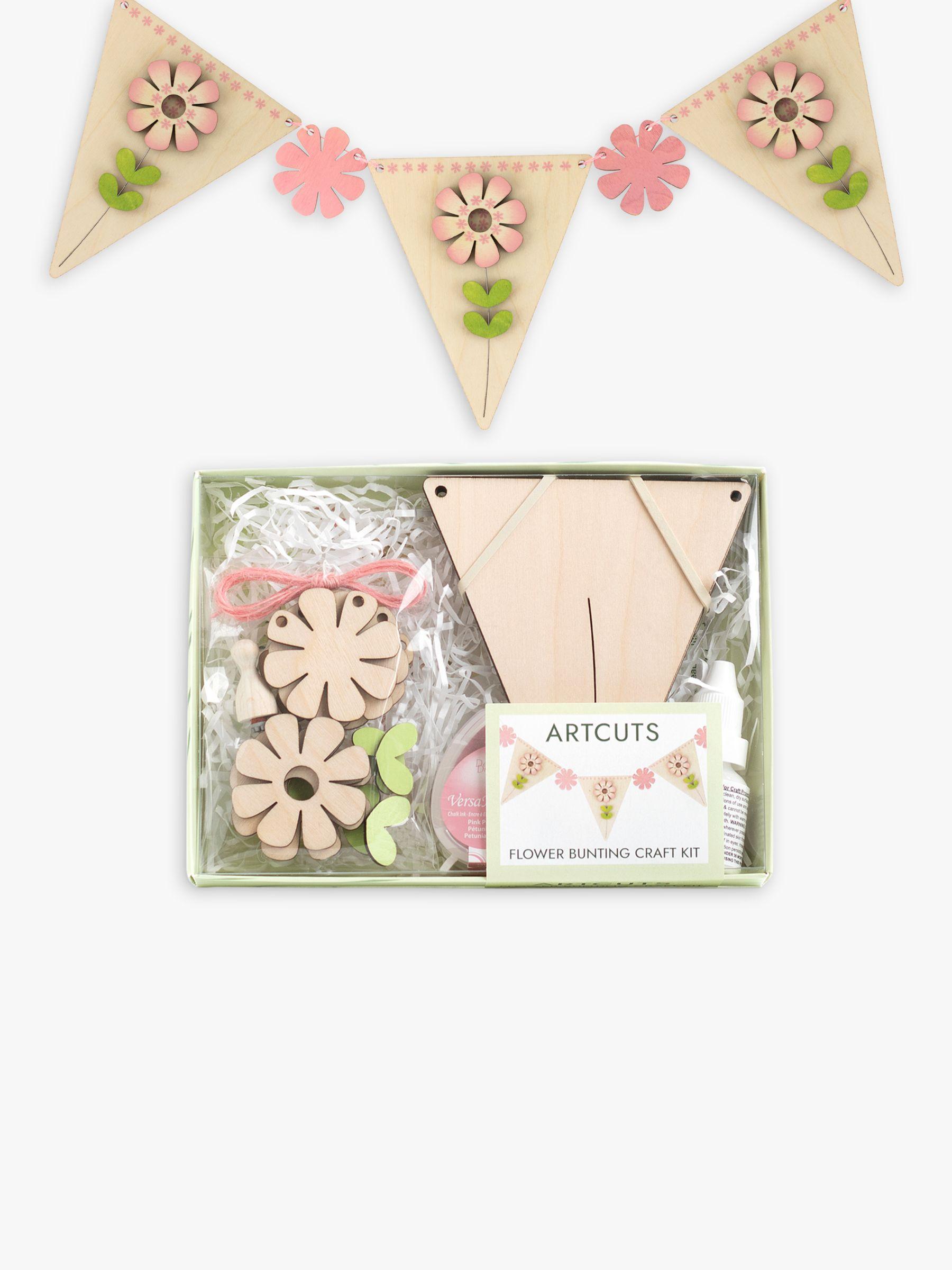 Artcuts Wooden Flower Bunting Craft Kit