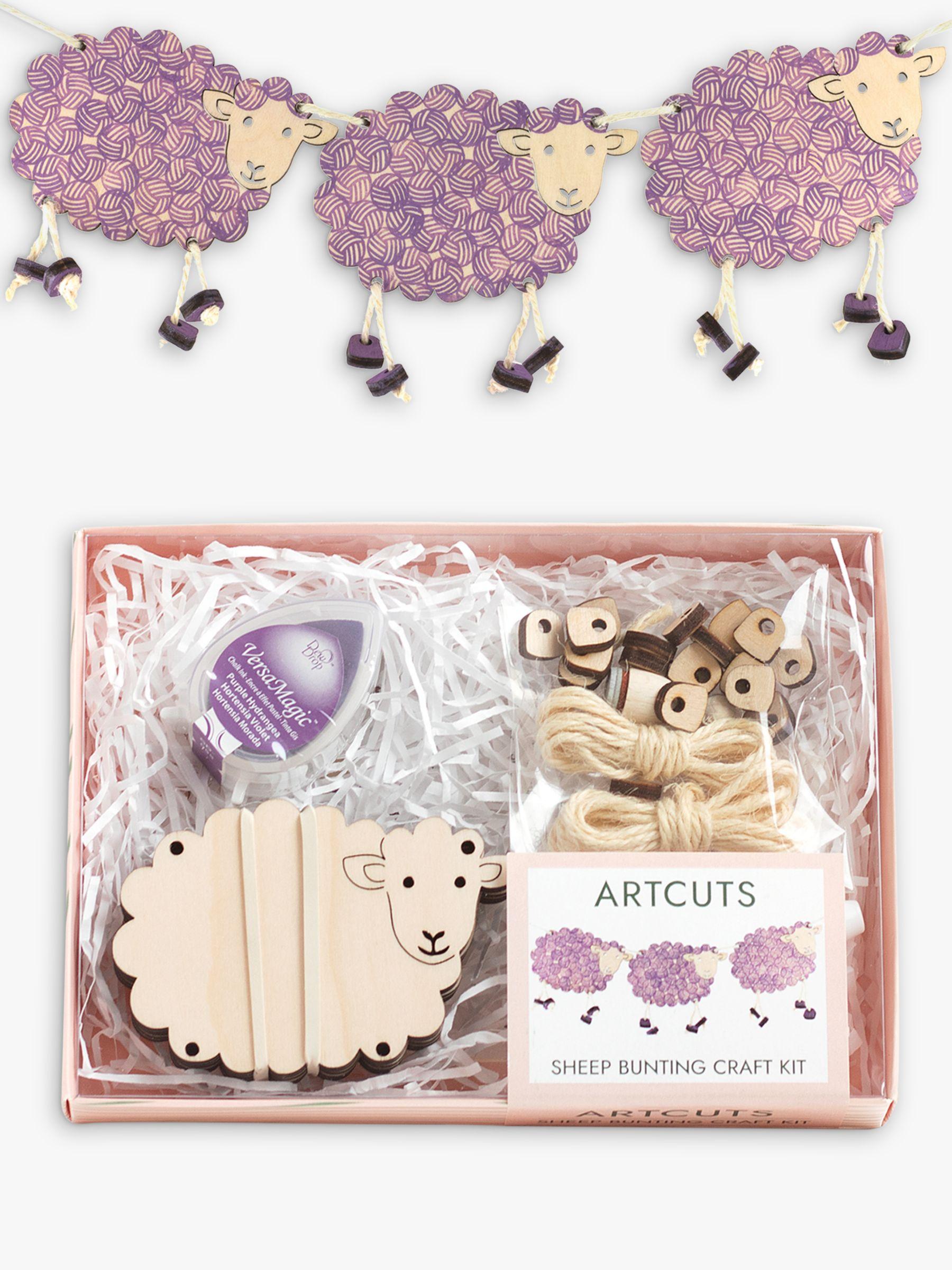 Artcuts Wooden Sheep Bunting Craft Kit