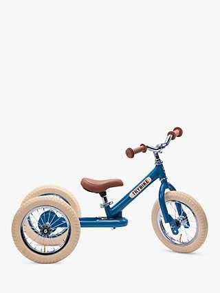 Trybike 2-in-1 Vintage Balance Trike, Blue
