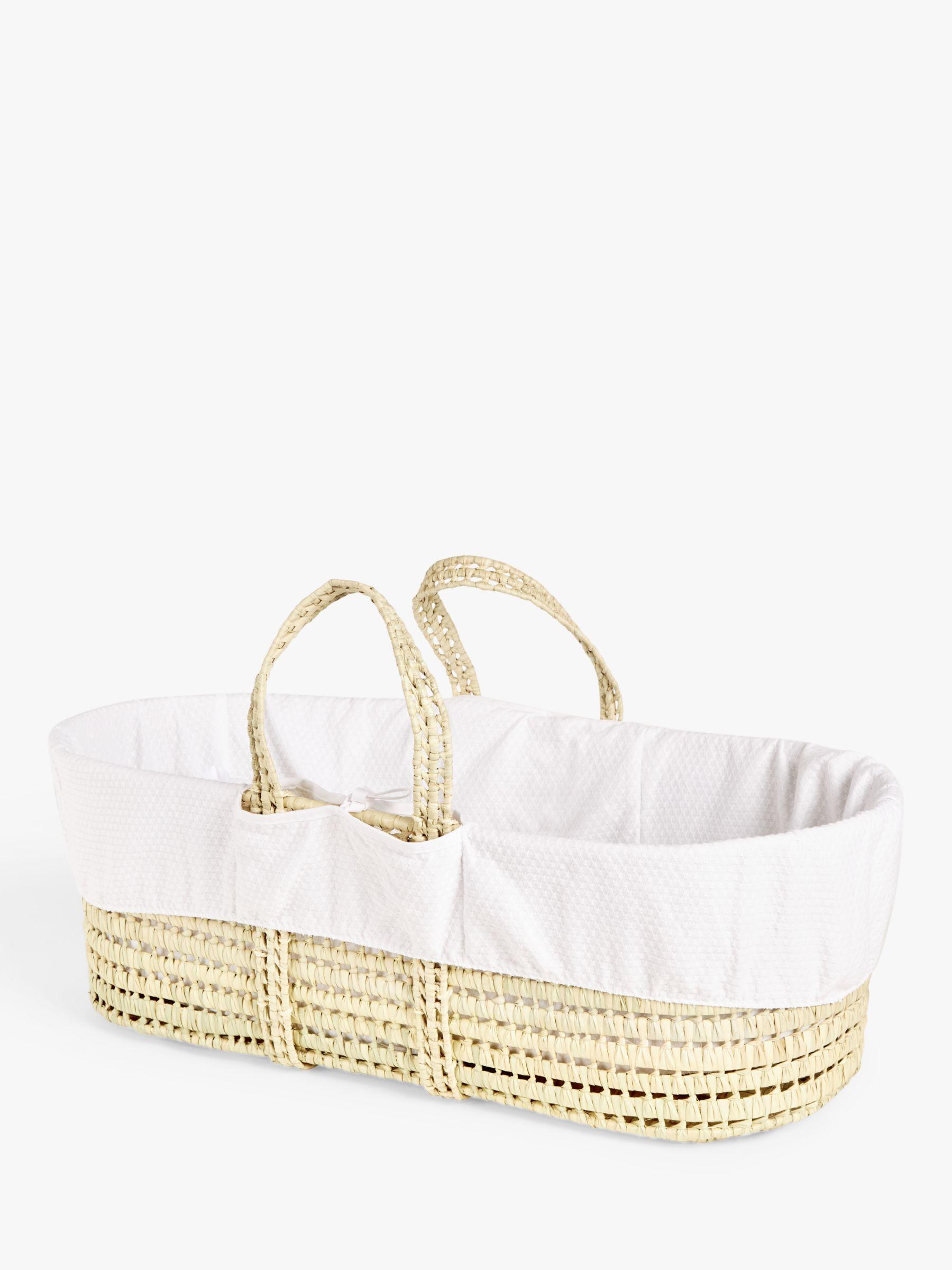 ANYDAY John Lewis & Partners Moses Basket, White