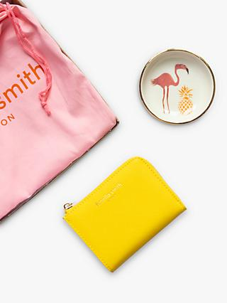 Fenella Smith Flamingo Ring Plate & Yellow Purse Letterbox Gift Set