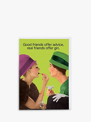 Cath Tate Cards Offer Gin Blank Greeting Card