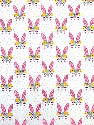 Visage Textiles Rabbit Ears Print Fabric, 2m, White