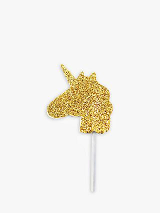 Creative Party Unicorn Cake Toppers, Pack of 12, Gold