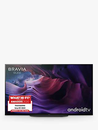 Sony Bravia KE48A9 (2020) OLED HDR 4K Ultra HD Smart Android TV, 48 inch with Freeview HD, Youview, Dolby Atmos & Acoustic Surface Audio, Black