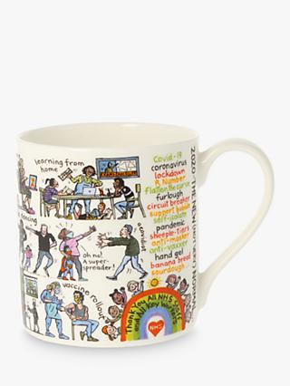 McLaggan Smith 2020 Educational Mug, 350ml, White/Multi