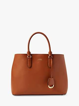Lauren Ralph Lauren Dryden Marcy Leather Satchel Bag