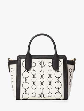 Lauren Ralph Lauren Tyler 16 Leather Tote Bag, Heritage Chain