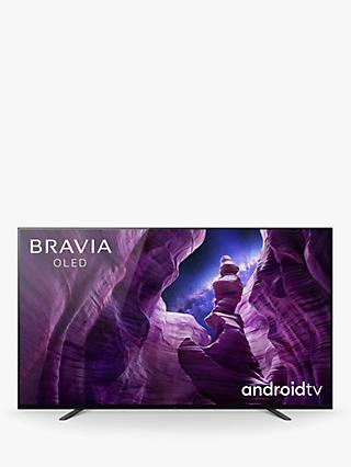 Sony Bravia KE55A8 (2020) OLED HDR 4K Ultra HD Smart Android TV, 55 inch with Freeview HD, Youview, Dolby Atmos & Acoustic Surface Audio, Black