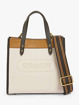 Coach Field 22 Leather Tote Bag, Chalk