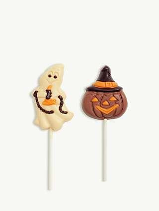 Sweet Me Keep Me Assorted Halloween Milk & White Chocolate Ghost & Pumpkin Lollies, 3x 35g,
