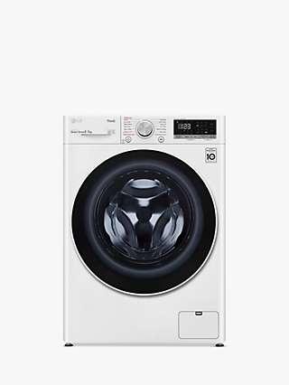 LG FWV585WSE Freestanding Washer Dryer, 8kg/5kg Load, 1400rpm Spin, White