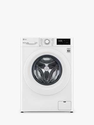 LG F4V309WNW Freestanding Washing Machine, 9kg Load, 1400rpm Spin, White