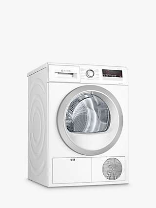 Bosch Serie 4 WTH85222GB Freestanding Heat Pump Tumble Dryer, White
