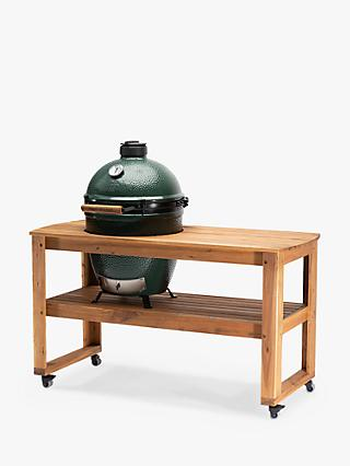 Big Green Egg Large Egg BBQ & Acacia Wood Table Bundle with ConvEGGtor & Cover