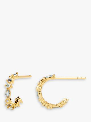 PDPAOLA Ombre Hoop Earrings, Gold/Multi