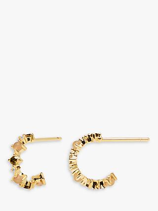 PDPAOLA Glory Hoop Earrings, Gold/Multi