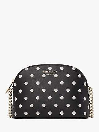 kate spade new york Dot Small Dome Cross Body Bag, Black/Multi