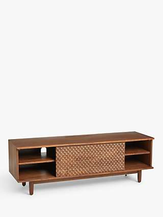 John Lewis & Partners Shift TV Stand for TVs up to 40, Brown