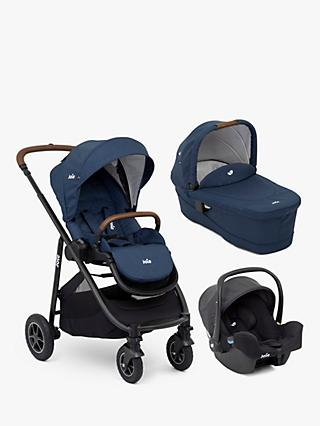 Joie Baby Versatrax Pushchair, Carrycot & i-Snug Bundle, Deep Sea