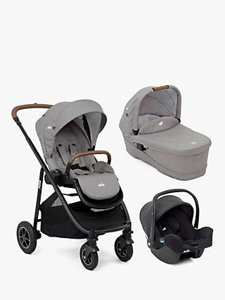 Joie Baby Versatrax Pushchair, Carrycot & i-Snug Bundle, Grey Flannel