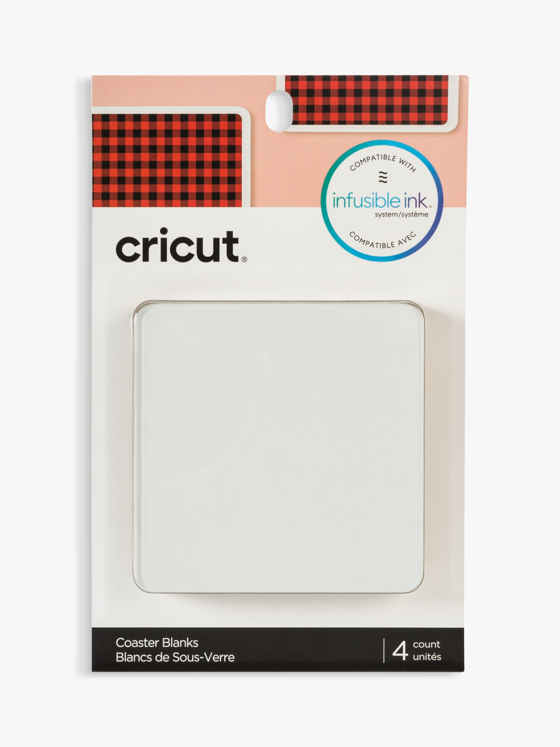 Cricut Infusible Ink Blank Coaster Square, Pack of 4