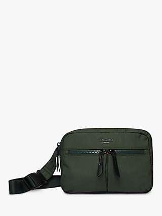 KNOMO Palermo Multiway Waist Pack Cross Body Bag, Bottle Green