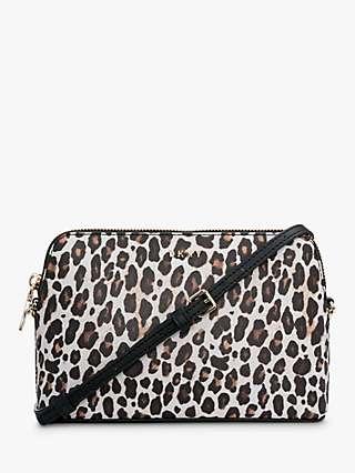 DKNY Bryant Dome Leopard Cross Body Bag, Multi