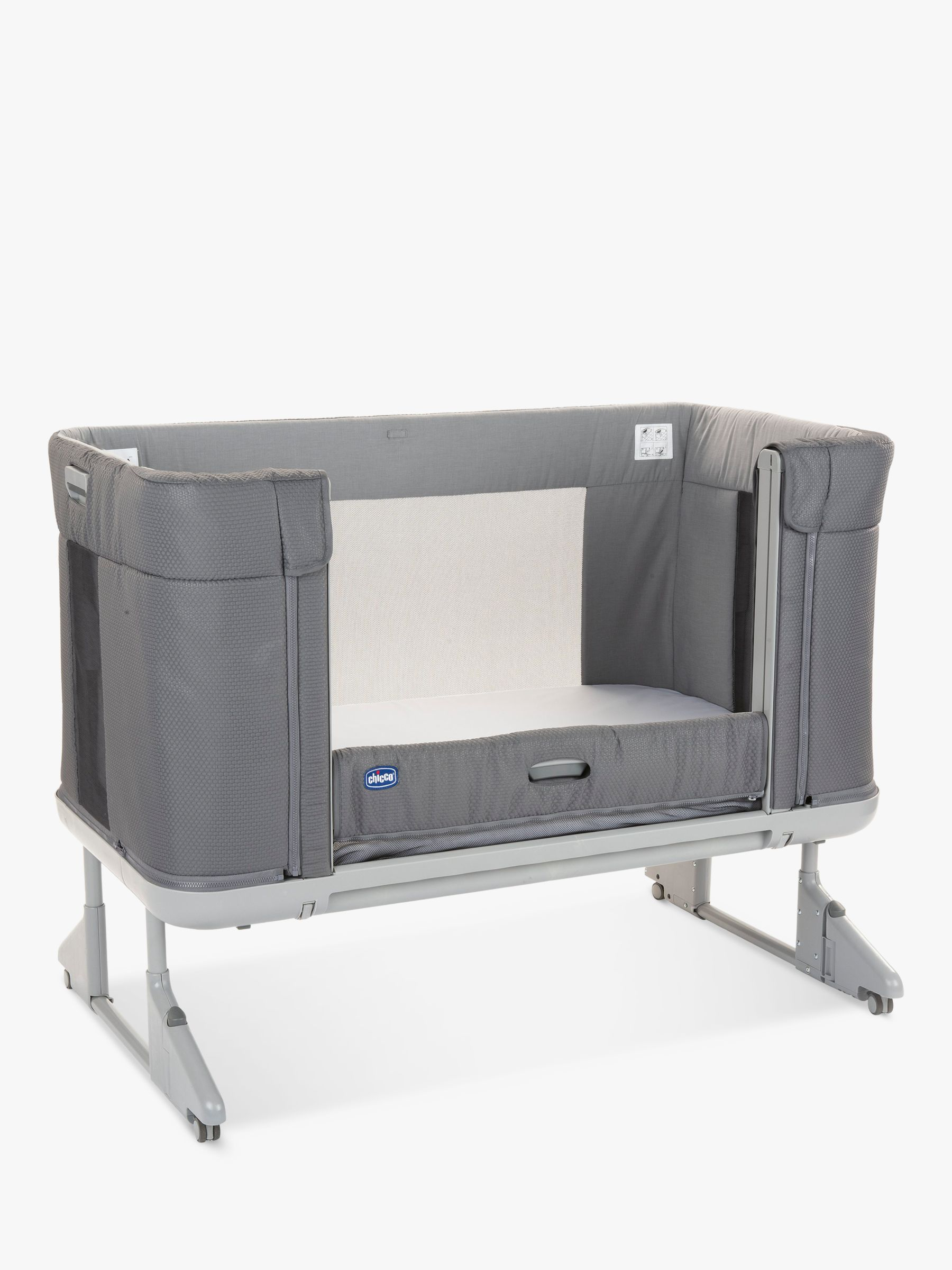 Chicco Next 2 Me Forever Bedside Crib, Moon Grey