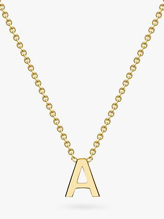 IBB 9ct Yellow Gold Initial Necklace