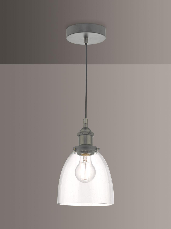 Där Arvin Glass Pendant Ceiling Light, Antique Chrome