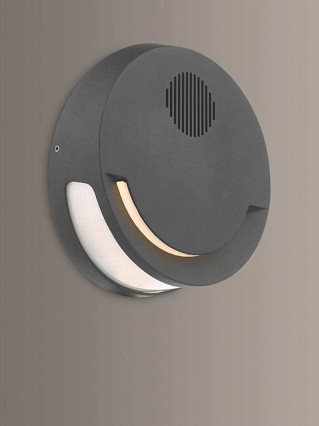 Där Euba Led Outdoor Wall Light With, Outdoor Wall Light With Bluetooth Speaker