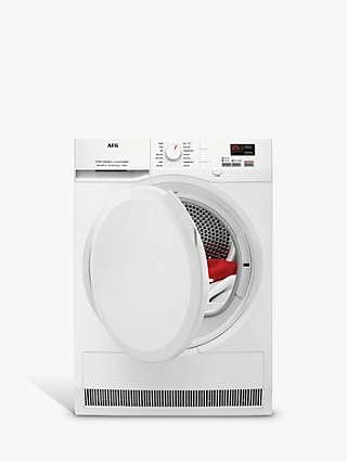 AEG 7000 T7DBK840N Freestanding Heat Pump Tumble Dryer, 8kg Load, White