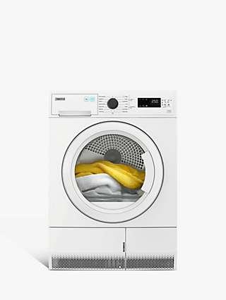 Zanussi ZDC82B4PW Freestanding Condenser Tumble Dryer, 8kg Load, White