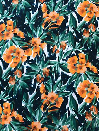 John Kaldor Flower Print Fabric, Gold/Green