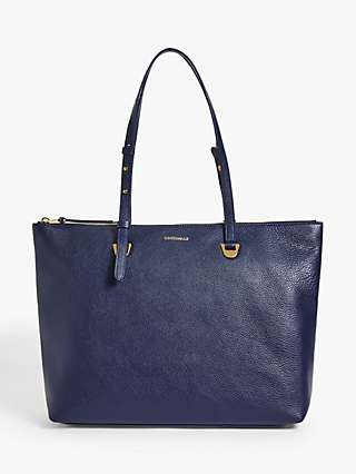 Coccinelle Lea Leather Zip Top Tote Bag