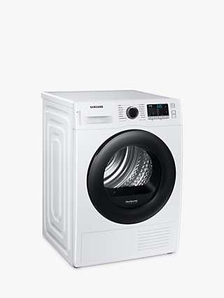 Samsung Series 5 DV80TA020AE Freestanding Heat Pump Tumble Dryer, 8kg Load, White