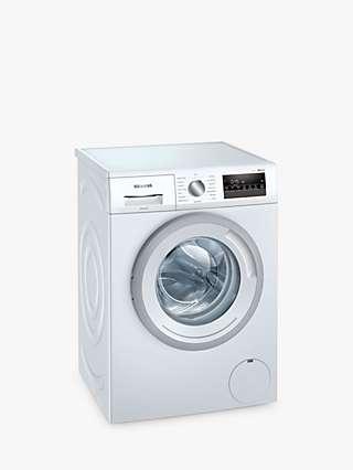 Siemens iQ300 WM12N202GB Freestanding Washing Machine, 8kg Load, 1200rpm Spin, White