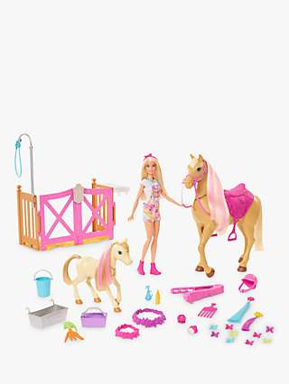 Barbie Groom 'n Care Doll & Horse Set
