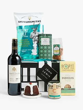 John Lewis & Partners Red Wine and Nibbles Gift Box