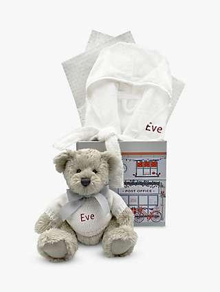 Babyblooms Personalised Berkeley Bear & Bathrobe Christmas Hamper