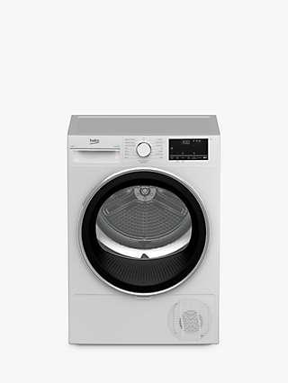 Beko B3T4823DW Freestanding Heat Pump Tumble Dryer, 8kg Load, White