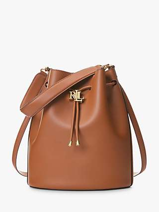 Lauren Ralph Lauren Andie 25 Leather Bucket Bag